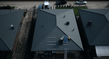 5 kW solar power plant on private house roof, Lithuania1-min