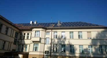 80 kW solar power plant on Taurage hospital roof, Lithuania-min